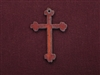 Rusted Iron Fancy Cross Pendant