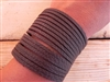 Leather Shredded Cuff Bracelet Cocoa Brown