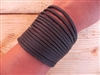 Leather Shredded Cuff Bracelet Dark Chocolate Brown