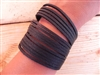Leather Shredded Cuff Bracelet Black