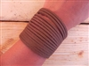 Leather Shredded Cuff Bracelet Taco Brown