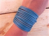 Leather Shredded Cuff Bracelet Turquoise