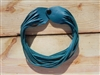 Leather Shredded Choker Turquoise