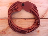 Leather Shredded Choker Light Rust