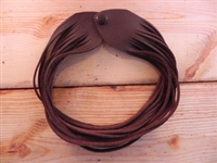 Leather Shredded Choker Cocoa Brown