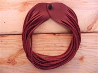 Leather Shredded Choker Deep Rust