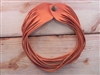 Leather Shredded Choker Creamsicle Orange