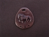 Galloping Horse Antique Copper Colored Fresh Lipstick Pendant