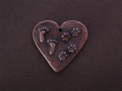 """By My Side For Awhile In My Heart Forever"" Antique Copper Colored Fresh Lipstick Pendant"