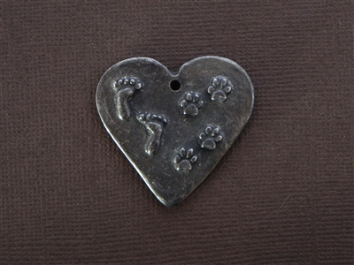"""By My Side For Awhile In My Heart Forever"" Antique Silver Colored Fresh Lipstick Pendant"