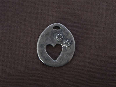 """Who Rescued Whom"" Antique Silver Colored Fresh Lipstick Pendant"