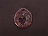 Open Heart With Paw Prints Antique Copper Colored Fresh Lipstick Pendant