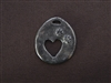Open Heart With Paw Prints Antique Silver Colored Fresh Lipstick Pendant