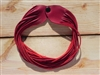 Leather Shredded Choker Cranberry Red