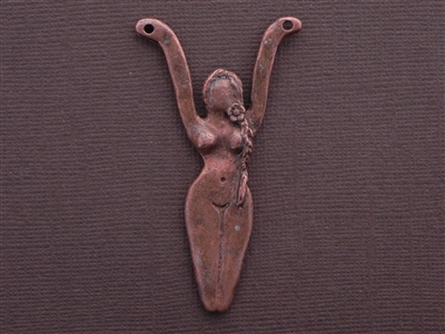 Goddess I Am Antique Copper Colored Fresh Lipstick Pendant