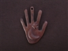 Hand With Moon & Star Antique Copper Colored Fresh Lipstick Pendant