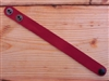 Leather Cuff Thin Cranberry Red