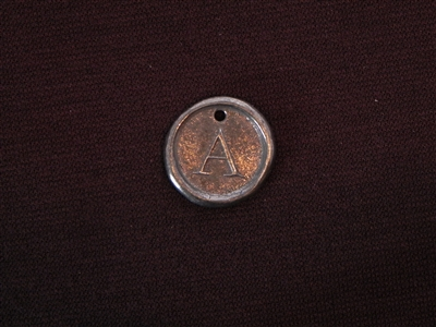 Initial A Antique Silver Colored Wax Seal