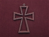 Rusted Iron Maltese Open Cross Pendant
