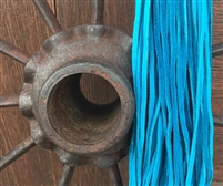 Leather Strands 1/8 (3 mm) Dark Turquoise