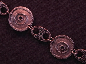 Handmade Chain Antique Copper Colored Discs