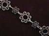 Handmade Chain Antique Silver Colored Large & Small Daisies