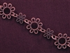 Handmade Chain Antique Copper Colored Large & Small Daisies