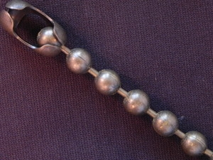 Ball Chain Antique Brass Colored 9 mm Bead Bracelet