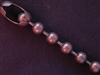 Ball Chain Antique Copper Colored 9 mm Bead Necklace