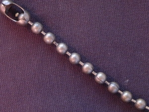 Ball Chain Antique Brass Colored 6 mm Bead Bracelet