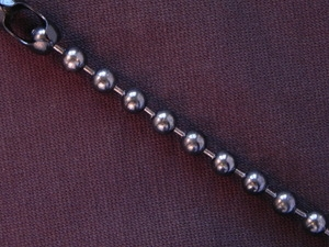 Ball Chain Gun Metal Colored 6 mm Bead Bracelet