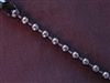 Ball Chain Gun Metal Colored 6 mm Bead Necklace