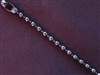 Ball Chain Gun Metal Colored 4 mm Bead Necklace