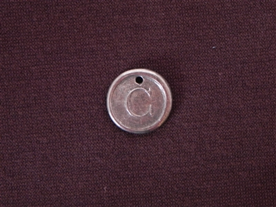 Initial C Antique Silver Colored Wax Seal