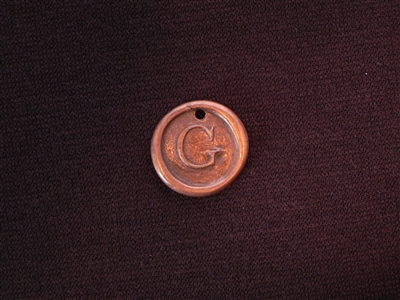 Initial G Antique Copper Colored Wax Seal
