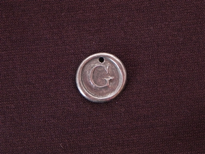 Initial G Antique Silver Colored Wax Seal
