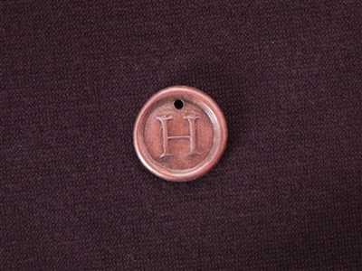 Initial H Antique Copper Colored Wax Seal