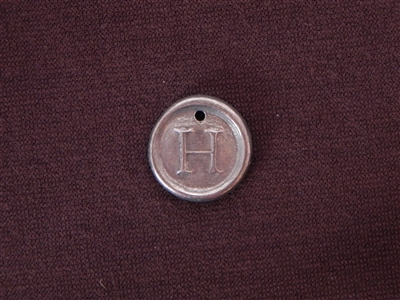 Initial H Antique Silver Colored Wax Seal