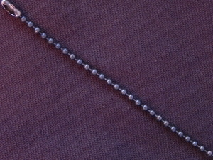 Ball Chain Gun Metal Colored 2 mm Bead Necklace