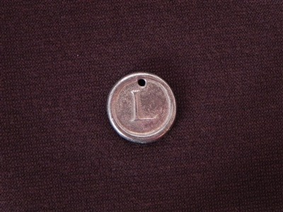 Initial L Antique Silver Colored Wax Seal