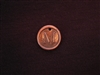Initial M Antique Copper Colored Wax Seal