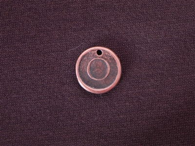 Initial O Antique Copper Colored Wax Seal