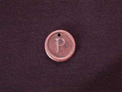 Initial P Antique Copper Colored Wax Seal
