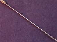 Ball Chain Antique Brass Colored 1.5 mm Bead Necklace