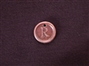 Initial R Antique Copper Colored Wax Seal