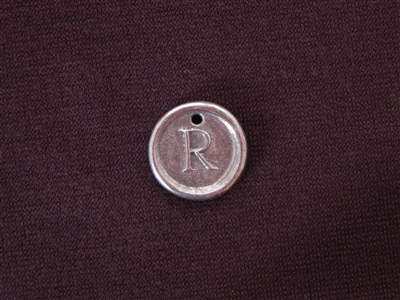 Initial R Antique Silver Colored Wax Seal