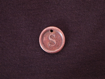 Initial S Antique Copper Colored Wax Seal