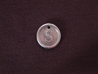 Initial S Antique Silver Colored Wax Seal