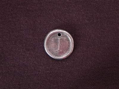 Initial T Antique Silver Colored Wax Seal