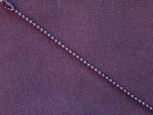 Ball Chain Gun Metal Colored 1.5 mm Bead Necklace